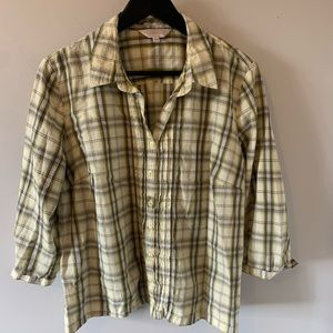 Northern Reflections / Yellow Plaid / Button Down